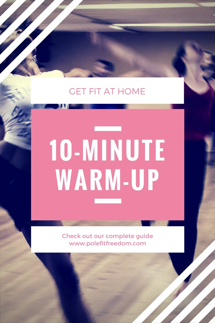 This 10-minute warm-up for pole dancers was created for working out at home. With pole dancers in mind, this short warm-up is great for all fitness levels