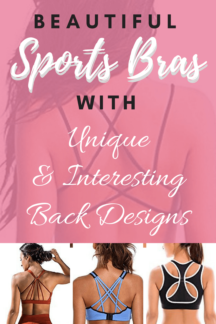 Beautiful Sports Bras with unique and interesting back designs for yoga classes, pole dancing classes, pole dancing clothes & workouts!