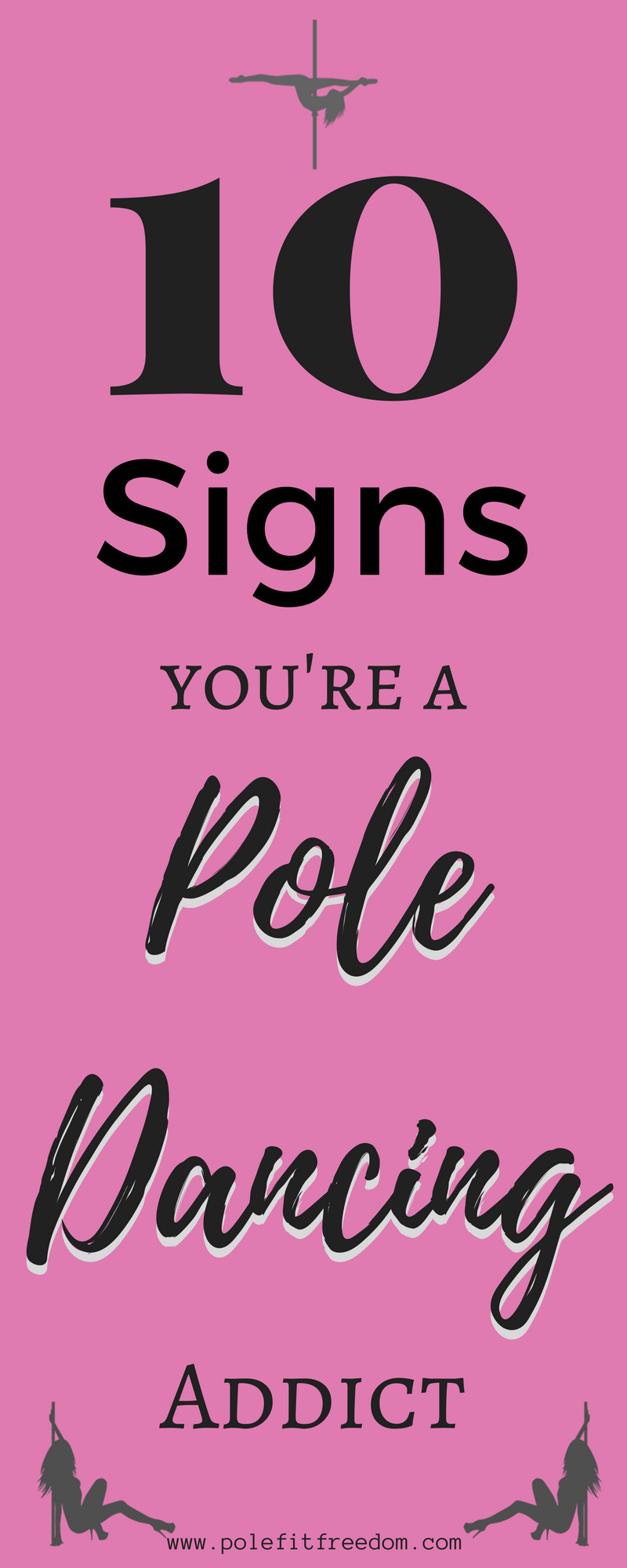 10 signs you're a pole addict | Pole Dancing | Pole Fitness Inspiration #PoleDancing #PoleFitness #PoleAddict