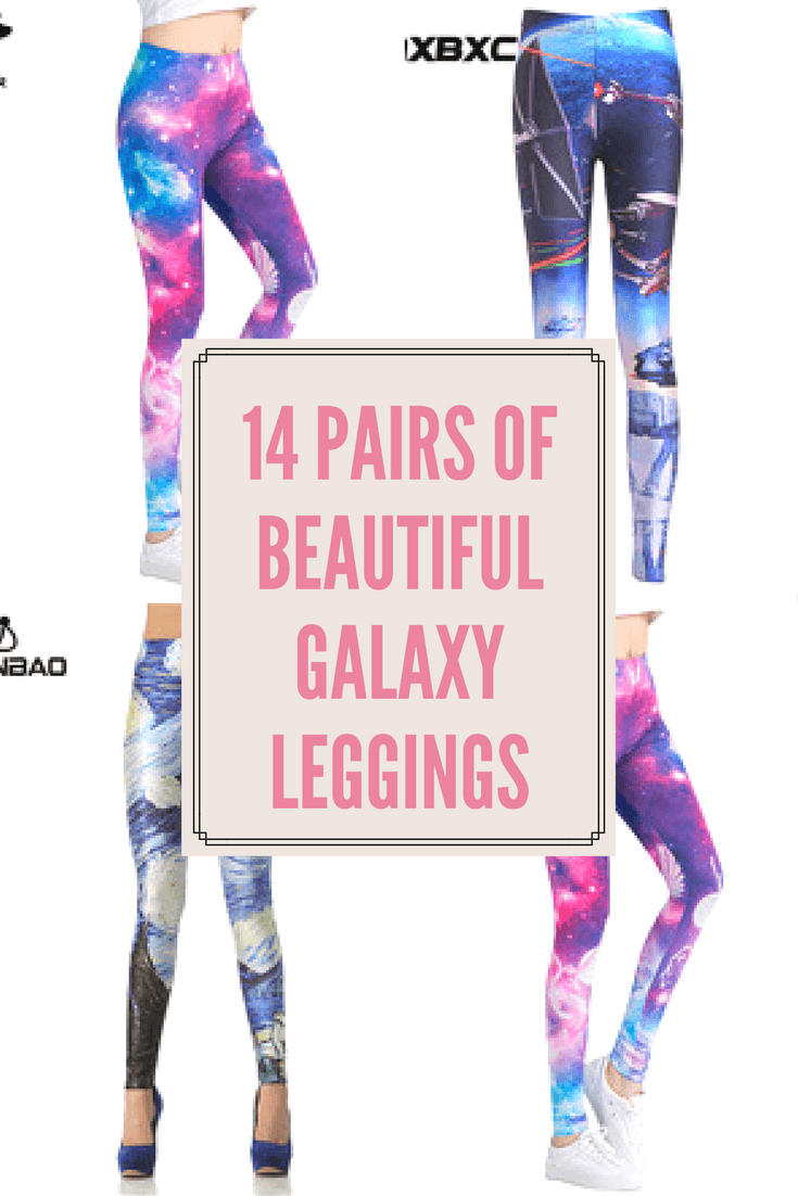 14 pairs of beautiful galaxy leggings