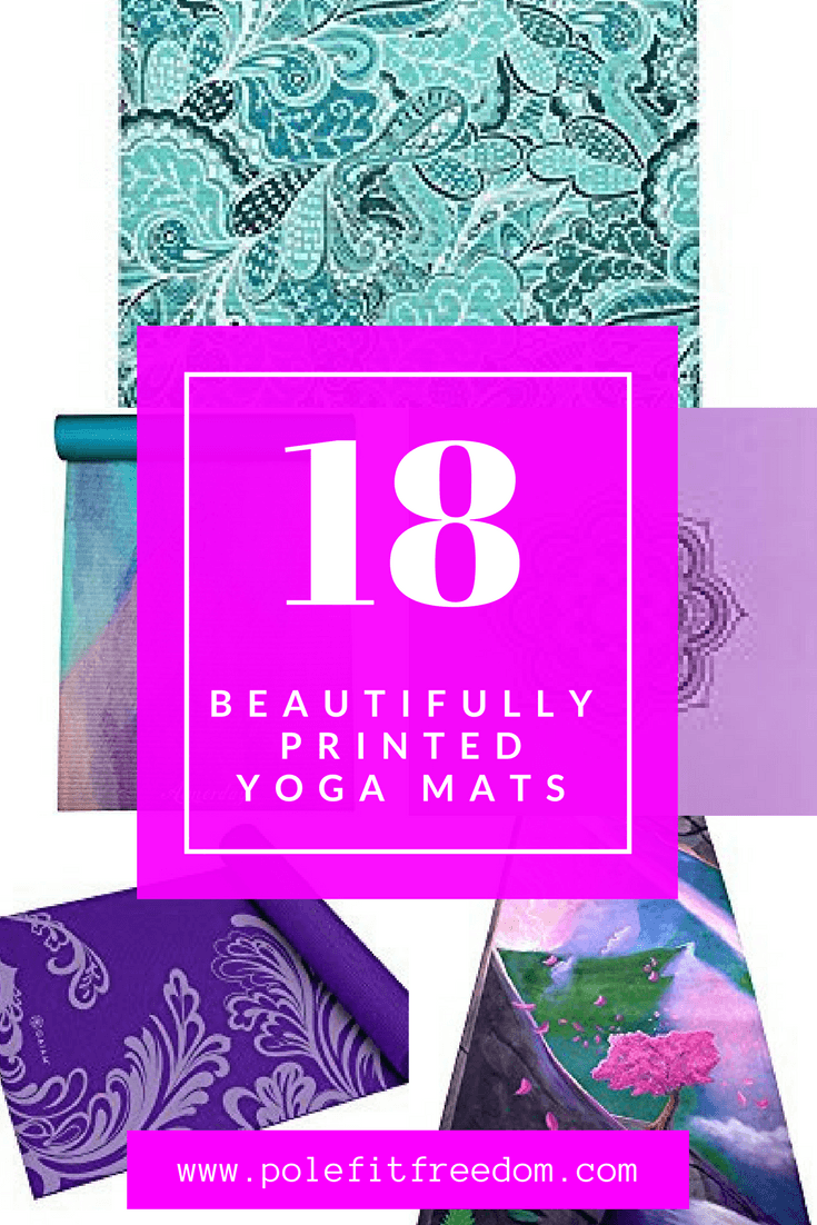 18 beautifully designed printed yoga mats