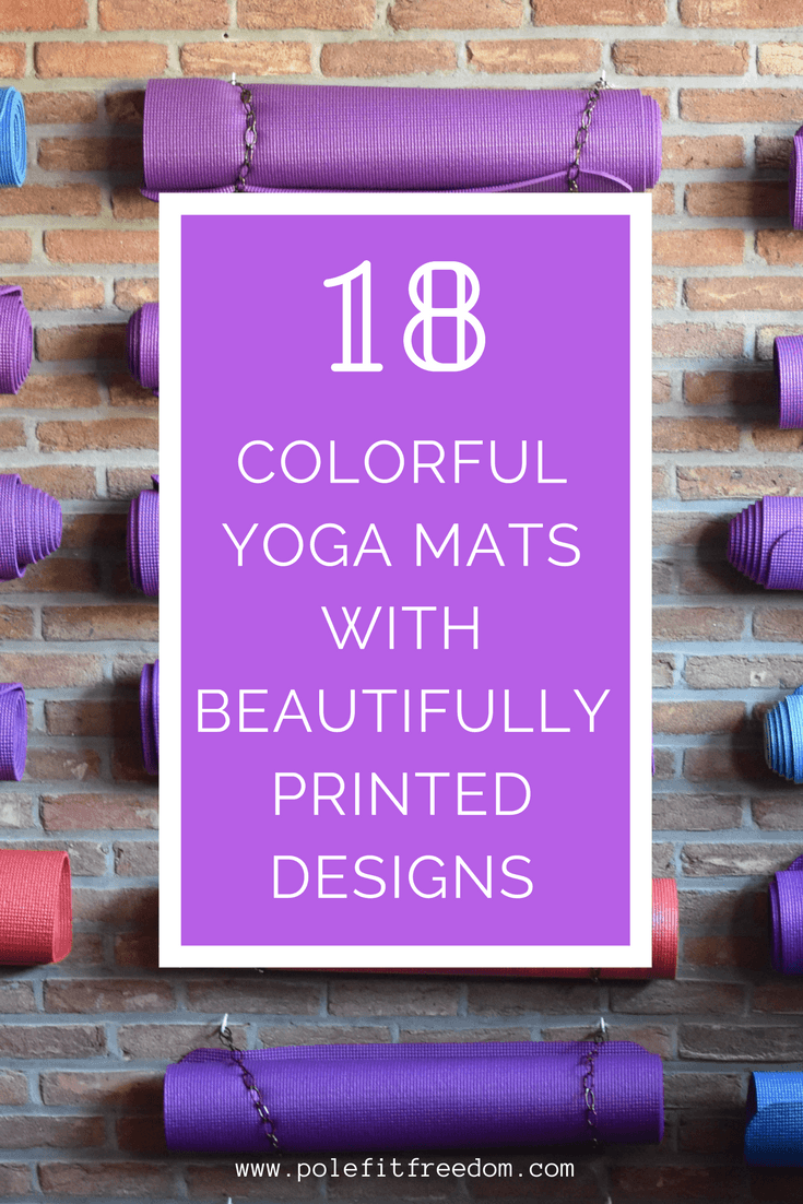 18 Colorful printed yoga mats with beautiful designs